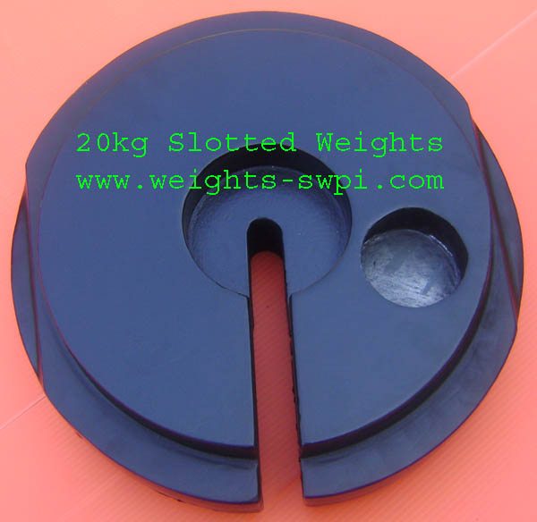 20kg Slotted Weight back side